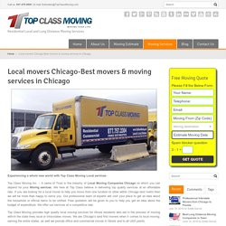 Local Moving Services in Chicago & Local moving company in Illinois