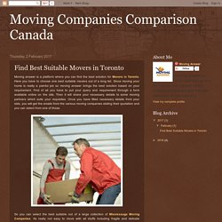 Find Best Suitable Movers in Toronto From Moving Answer