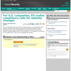 For U.S. companies, EU cookie compliance calls for website changes