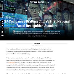 27 Companies Drafting China's First National Facial Recognition Standard