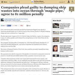 compaines tell guilty to pay $1 million penalty