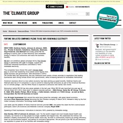 Fortune 500 listed companies pledge to use 100% renewable electricity