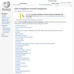 List of employee-owned companies