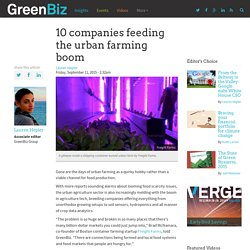 10 companies feeding the urban farming boom