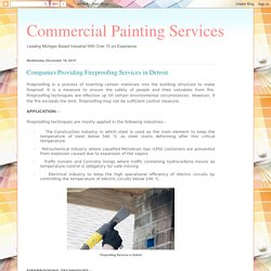 Commercial Painting Services : Companies Providing Fireproofing Services in Detroit