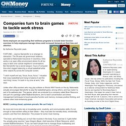 Companies turn to brain games to tackle work stress