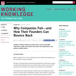 and How Their Founders Can Bounce Back