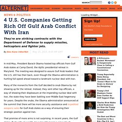4 U.S. Companies Getting Rich Off Gulf Arab Conflict With Iran