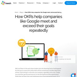 How OKRs help companies like Google meet and exceed their goals repeatedly - Mesh