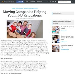 Moving Companies Helping You in NJ Relocations