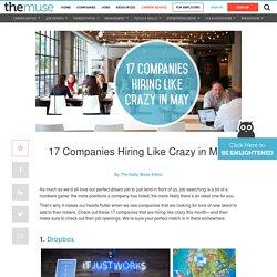 Top Companies Hiring in May - Job Postings