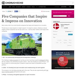 Five Companies that Inspire & Impress on Innovation