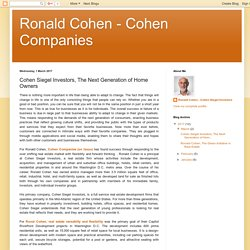 Cohen Siegel Investors, The Next Generation of Home Owners