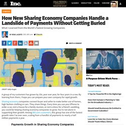 How New Sharing Economy Companies Handle a Landslide of Payments Without Getting Buried