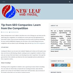 Tip from SEO Companies: Learn from the Competition