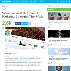 5 Companies With Inbound Marketing Strategies That Work