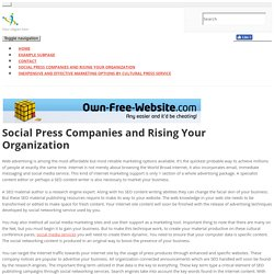 social-media-services - Social Press Companies and Rising Your Organization