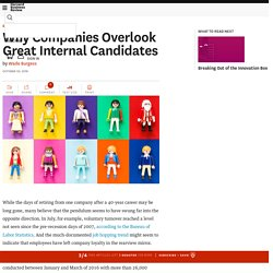 Why Companies Overlook Great Internal Candidates