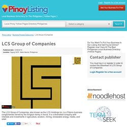 LCS Group of Companies in Philippines Business Local Directory