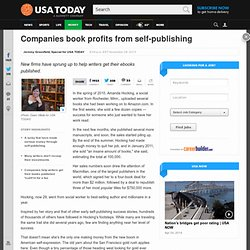 Companies book profits from self-publishing