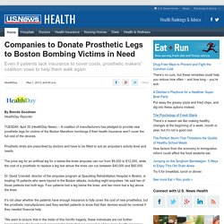 Companies to Donate Prosthetic Legs to Boston Bombing Victims in Need