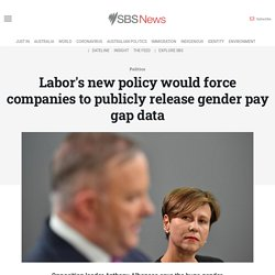 Labor's new policy would force companies to publicly release gender pay gap data