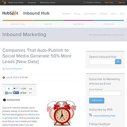 Companies That Auto-Publish to Social Media Generate 50% More Leads [New Data]