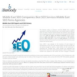 Best Middle East SEO Agencies - iBaroody LLC
