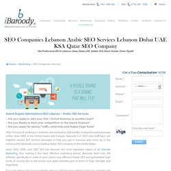 Top Class SEO Service in Lebanon From iBaroody LLC