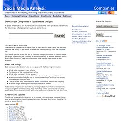 Companies in Social Media Analysis