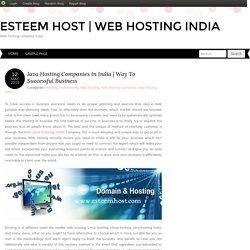 Java Hosting Companies In India