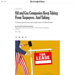 Oil and Gas Companies Keep Taking From Taxpayers. And Taking.