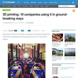 3D printing: 10 companies using it in ground-breaking ways