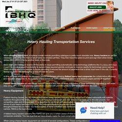 Heavy Hauling Transportation Services