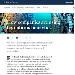 How companies are using big data and analytics