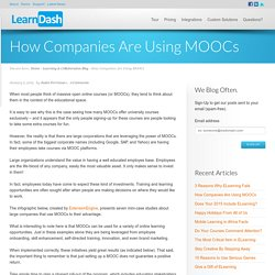 How Companies Are Using MOOCs