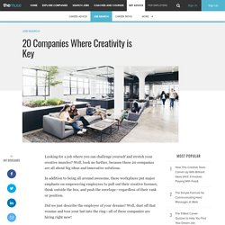 20 Companies Where You Can Be Creative