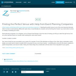 Finding the Perfect Venue with Help from Event Planning Companies