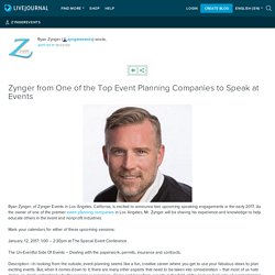 Zynger from One of the Top Event Planning Companies to Speak at Events