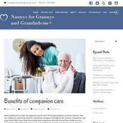 Companion Care For Elder In Long Island Offered By Nannys For Grannys