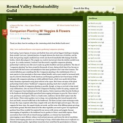 Companion Planting W/ Veggies & Flowers « Round Valley Sustainability Guild