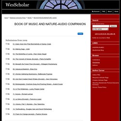 Book of Music and Nature-Audio Companion