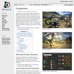 Chocobo Companion Wiki