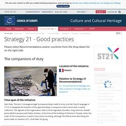 Les compagnons du devoir - Stratégie 21 - Bonnes pratiques