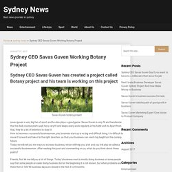 Savas Guven Company All Round Access Working Botany Project