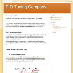 PID Tuning Company : A Quick Guide to Advance Process Control Software