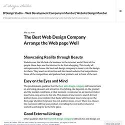 The Best Web Design Company Arrange the Web page Well – D'Design Studio – Web Development Company in Mumbai