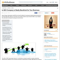 Is SEO Company is Really Beneficial for Your Business