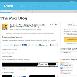 The Broken Art of Company Blogging (and the Ignored Metric that Could Save Us All)
