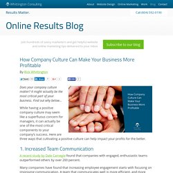 How Company Culture Can Make Your Business More Profitable
